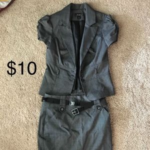 2 for $20 Gray skirt suit